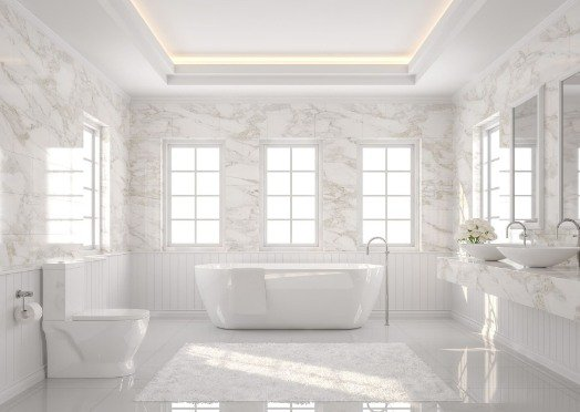 tiling-in-a-white-and-bright-bathroom at rockhampton tilers